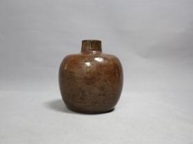 铁锈釉小罐