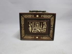 酸枝镶锣銁首饰盒