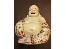 粉彩坐相彌陀佛