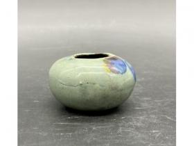 青釉加彩水盂